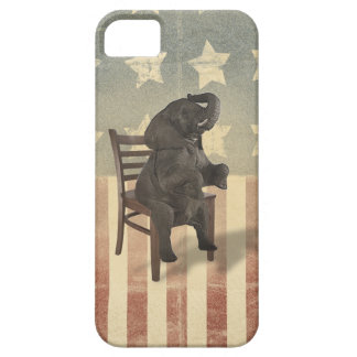 GOP Elephant Takes Over the Chair Funny Political Barely There iPhone 5 Case