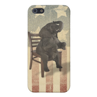 GOP Elephant Takes Over the Chair Funny Political iPhone 5/5S Cases