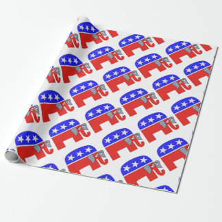 GOP Elephant Wrapping Paper