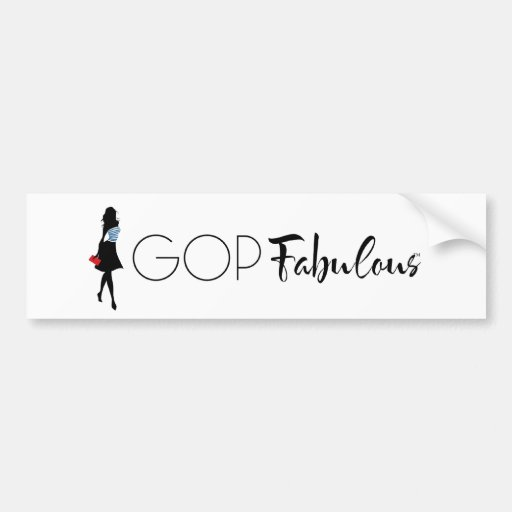 GOP Fabulous Bumper Sticker