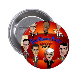 GOP Get Obama Party 6 Cm Round Badge