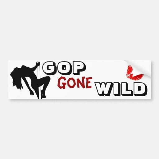 GOP Gone Wild Bumper Sticker