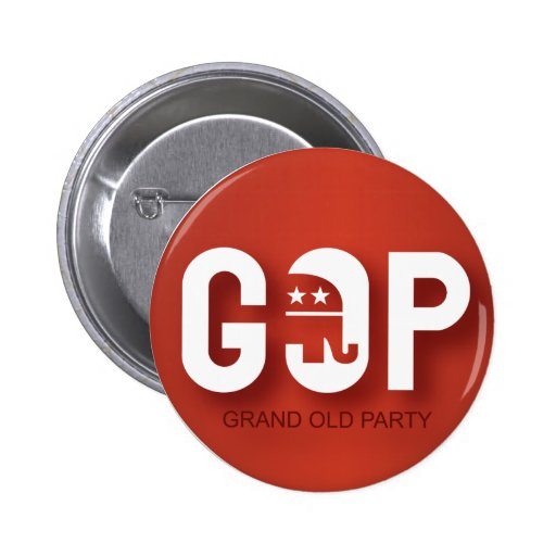 GOP (Grand Old Party) Button
