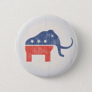 GOP Mammoth Logo 6 Cm Round Badge