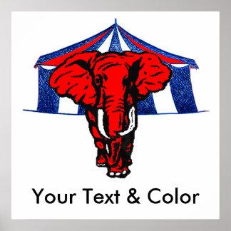 GOP Republican Elephant POSTER Print