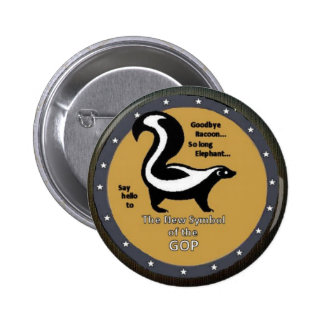 GOP Skunk 6 Cm Round Badge