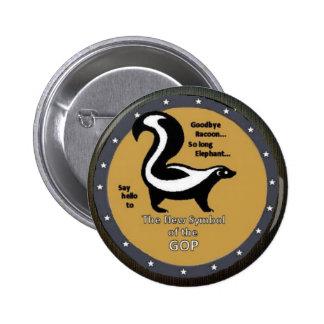 GOP Skunk Pinback Button