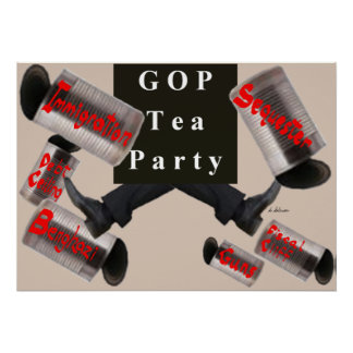 GOP/TeaParty Kicking the Cans Poster