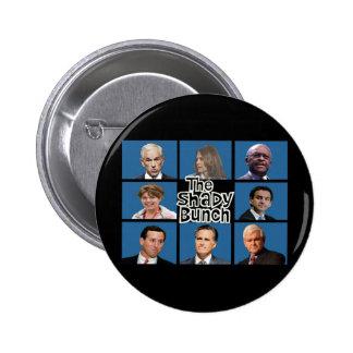 GOP - The Shady Bunch - Paul Romney Palin Bachmann 6 Cm Round Badge