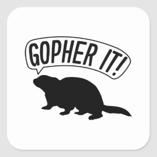 Gopher It Square Sticker
