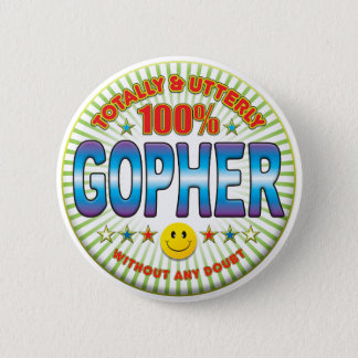Gopher Totally 6 Cm Round Badge