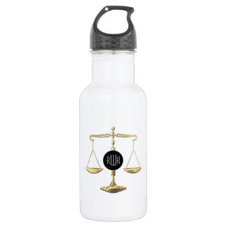 Goplden Scales of Justice | Initials 532 Ml Water Bottle