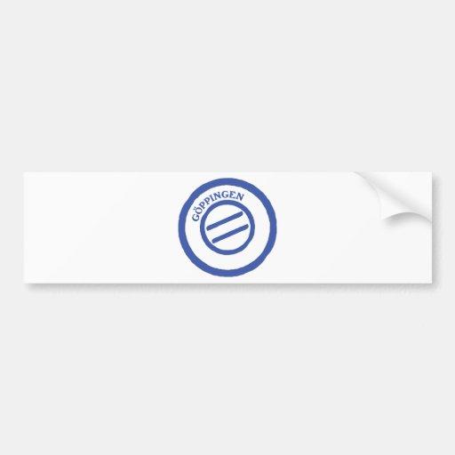 Göppingen post stempel bumper stickers