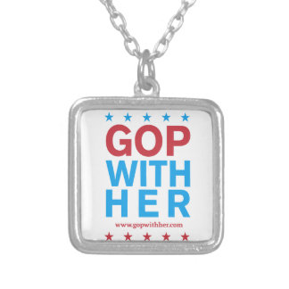 GOPWithHer Silver Plated Necklace