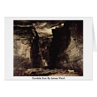 Gordale Scar By James Ward Card