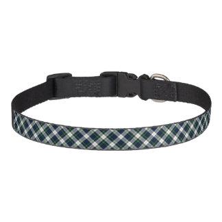 Gordon Clan Dress Tartan Blue and White Plaid Pet Collar