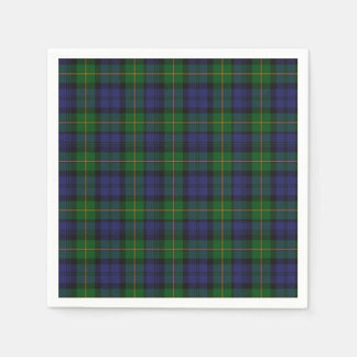 Gordon Clan Tartan Plaid Paper Napkins