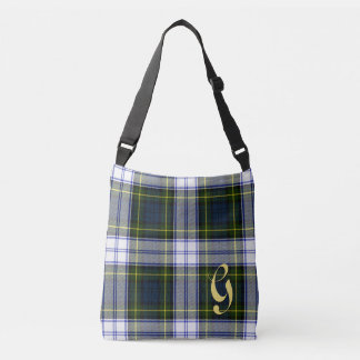 Gordon Dress Tartan Plaid Monogrammed Body Bag Tote Bag