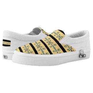 Gordon Floral Design Zipz Slip-On Sneakers