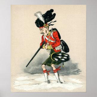 Gordon Highlander British Soldier Poster