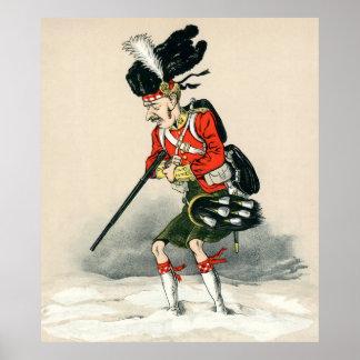 Gordon Highlander Soldier Poster