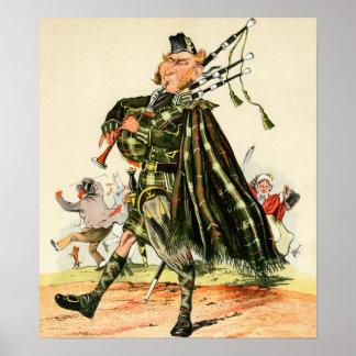 Gordon Highlanders - Piper Poster