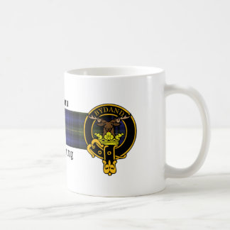 Gordon Scottish crest and Tartan mug
