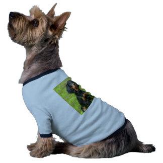 Gordon Setter Attentive Black Dog Puppy Pet Tee Shirt