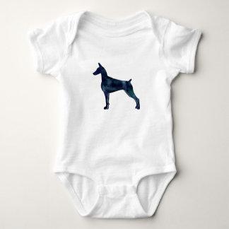 Gordon Setter Dog Black Watercolor Silhouette Baby Bodysuit