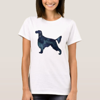Gordon Setter Dog Black Watercolor Silhouette T-Shirt