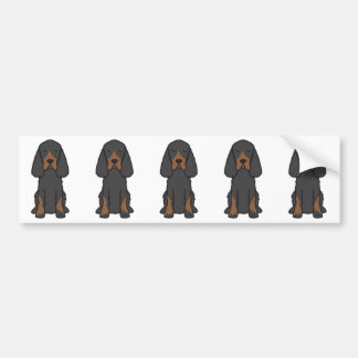 Gordon Setter Dog Cartoon Bumper Sticker