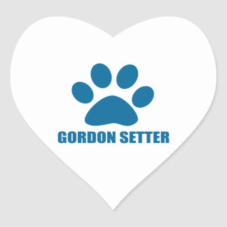 GORDON SETTER DOG DESIGNS HEART STICKER