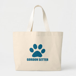 GORDON SETTER DOG DESIGNS LARGE TOTE BAG