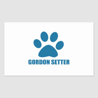 GORDON SETTER DOG DESIGNS RECTANGULAR STICKER