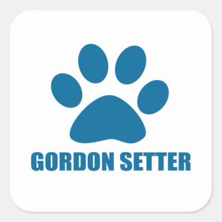 GORDON SETTER DOG DESIGNS SQUARE STICKER
