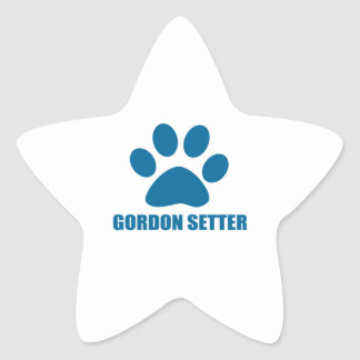 GORDON SETTER DOG DESIGNS STAR STICKER
