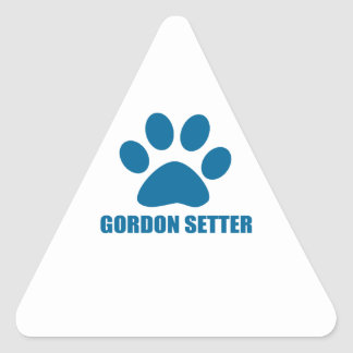 GORDON SETTER DOG DESIGNS TRIANGLE STICKER