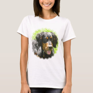 Gordon Setter Dog Ladies Fitted T-Shirt