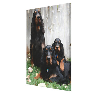 Gordon Setter Generations Wrapped Canvas Print