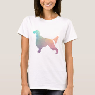 Gordon Setter Geometric Pattern Silhouette  Pastel T-Shirt