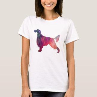 Gordon Setter Geometric Pattern Silhouette Pink T-Shirt