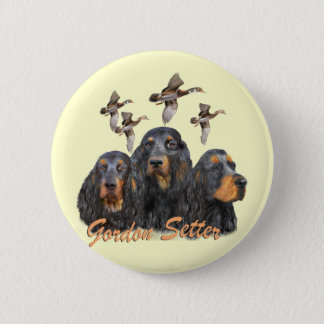 Gordon Setter Hunts Pheasants 6 Cm Round Badge