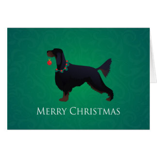 Gordon Setter Merry Christmas Design Card