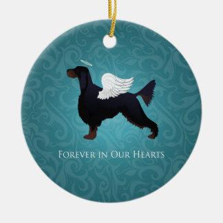 Gordon Setter Pet Memorial Dog Angel Ceramic Ornament