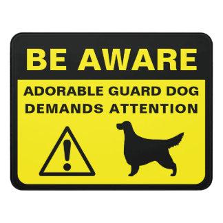 Gordon Setter Silhouette Funny Guard Dog Warning Door Sign