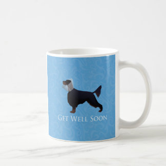 Gordon Setter Silhouette Get Well Soon Coffee Mug