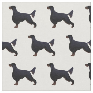 Gordon Setter Silhouette Tiled Fabric Basic