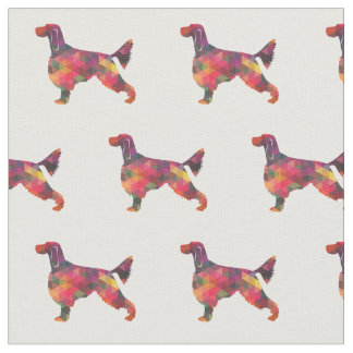 Gordon Setter Silhouette Tiled Fabric Black Multi