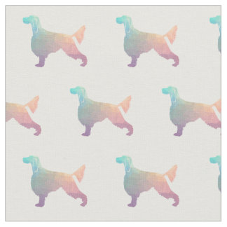 Gordon Setter Silhouette Tiled Fabric Black Pastel