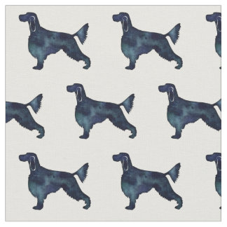 Gordon Setter Silhouette Tiled Fabric Black WC